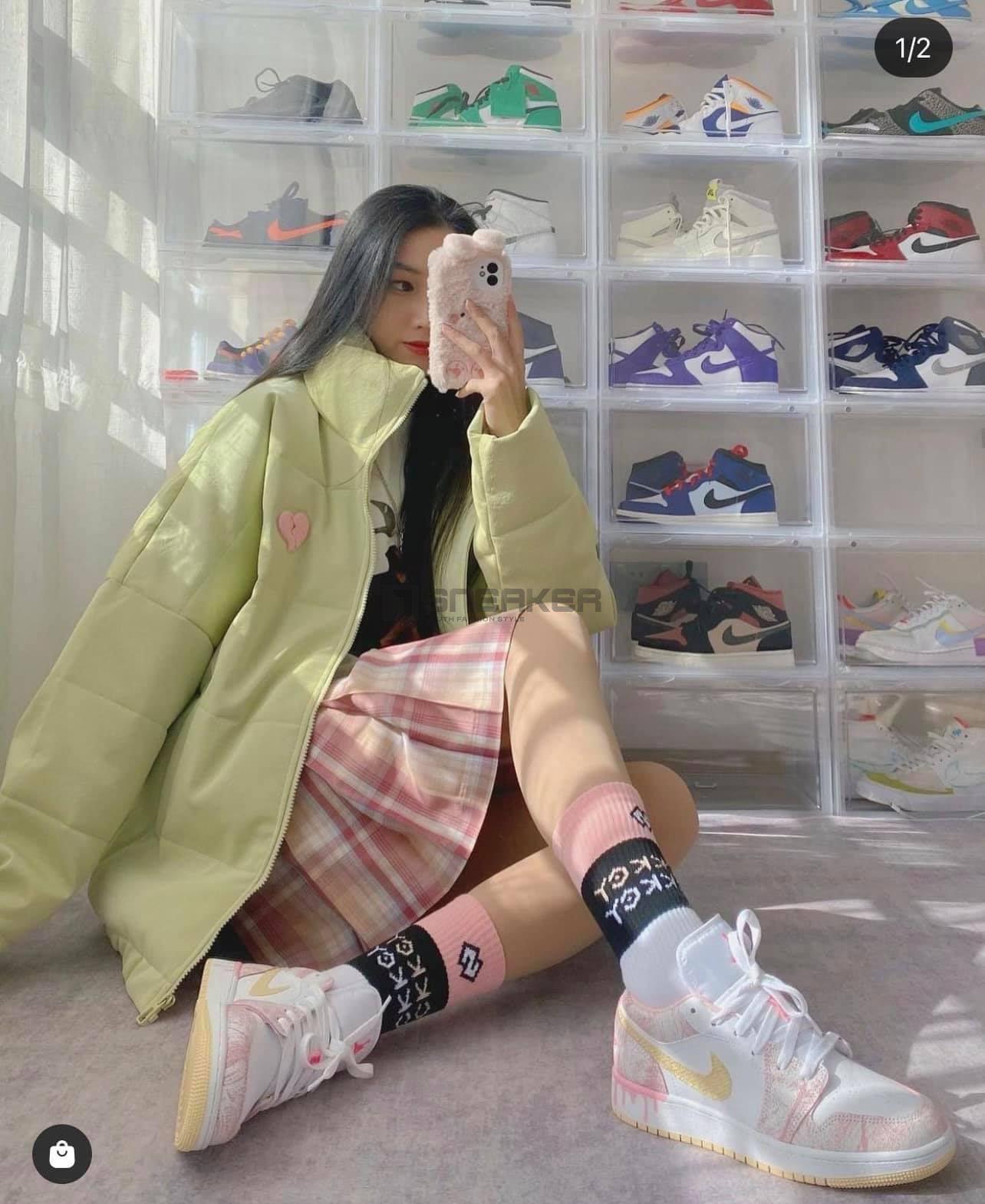 Giày Nike Air Jordan 1 Low Paint Drip được các bạn nữ yêu thích