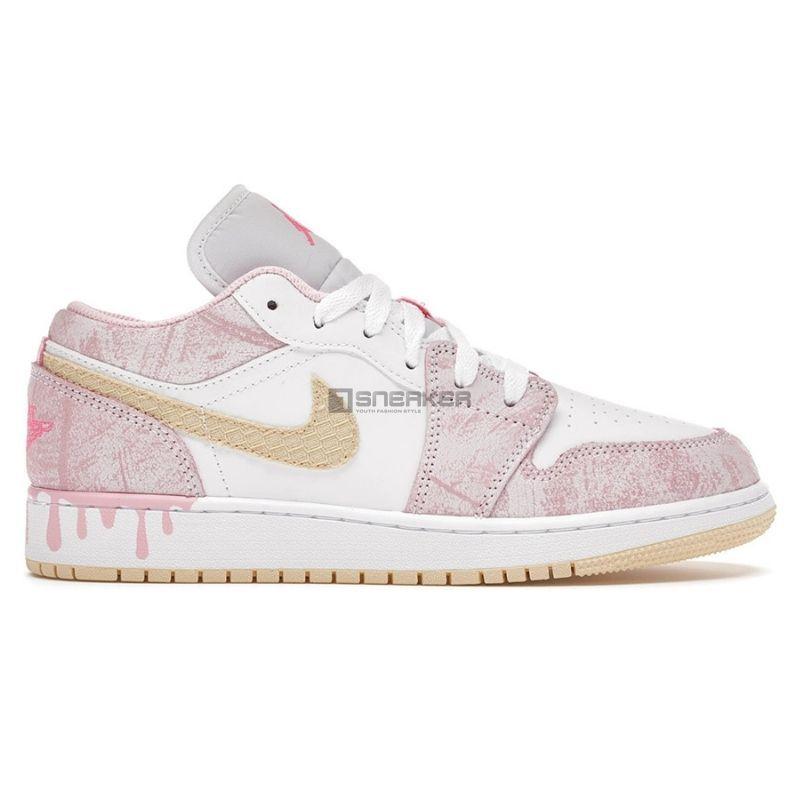 Giày Nike Jordan hồng Air Jordan 1 Low Paint Drip