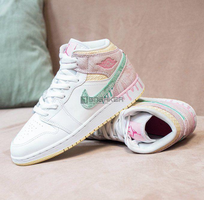 Giày Nike Air Jordan 1 Mid Ice Cream